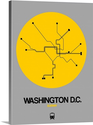Washington D.C. Yellow Subway Map