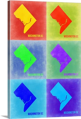 Washington DC Pop Art Map III