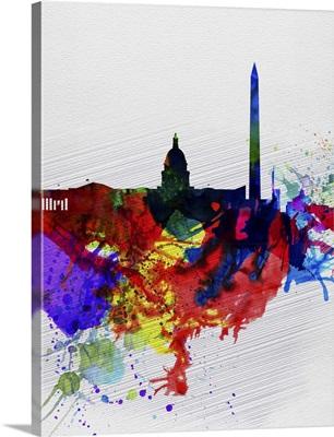 Washington DC Watercolor Skyline II