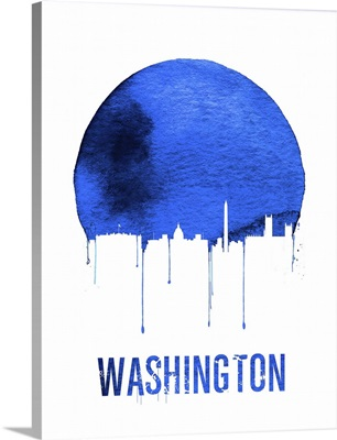Washington Skyline Blue