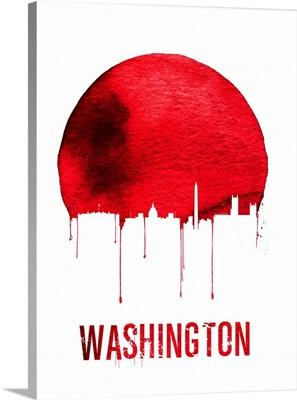 Washington Skyline Red
