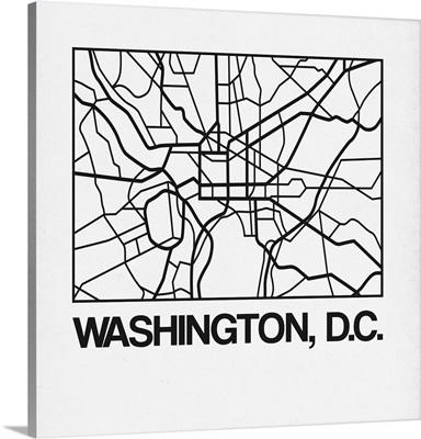 White Map of Washington, D.C