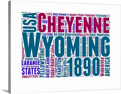 Wyoming Word Cloud Map