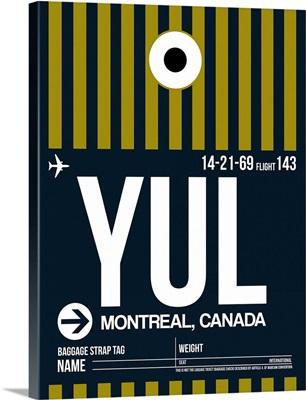 YUL Montreal Luggage Tag I