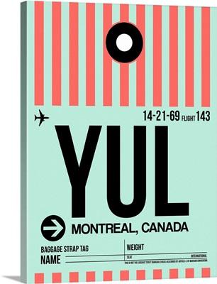 YUL Montreal Luggage Tag II