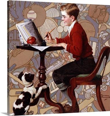 Boy Reading Sears Catalogue