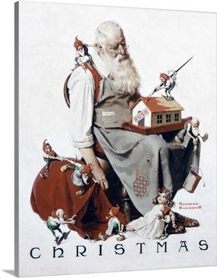 Christmas: Santa With Elves