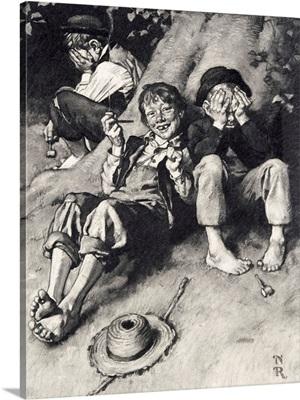Huck Teaching Tom And Joe To Smoke (Study)