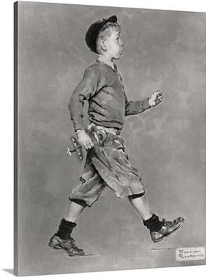 Portrait Of A Boy Walking