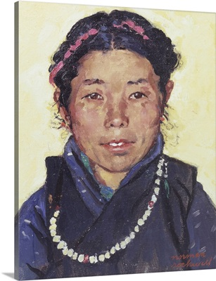 Portrait Of A Tibetan Refugee Woman In India