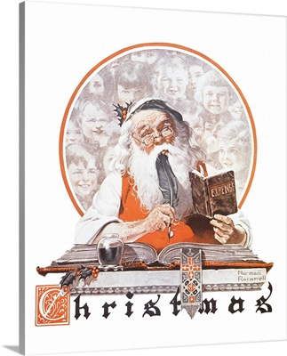 Santa And Expense Book