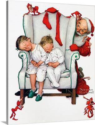 Santa Filling The Stockings