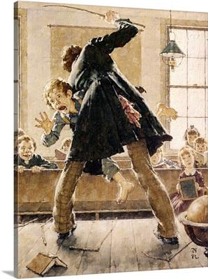 Schoolmaster Flogging Tom Sawyer