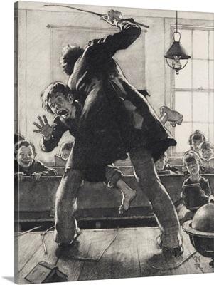 Schoolmaster Flogging Tom Sawyer (Study)