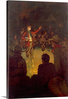 Scouts Around Campfire