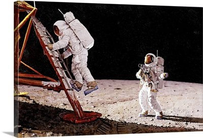 The Final Impossibility Man's Tracks On The Moon