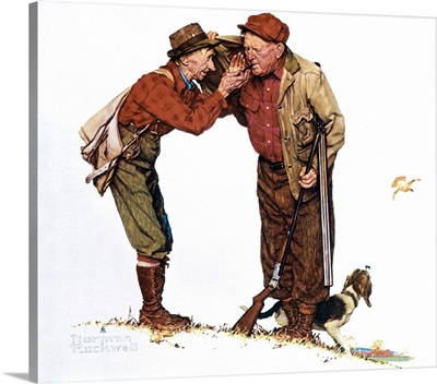 Two Old Men And Dog Hunting