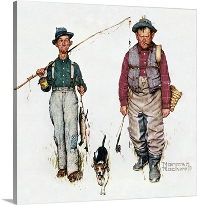 Two Old Men And Dog: The Catch