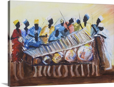 Drummers and Xylophone