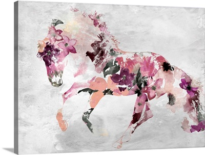 Beautiful Floral Horse