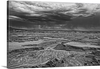 Canyonlands Storm Black and White