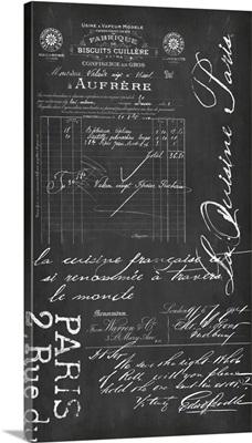 Chalkboard Nostalgic French II