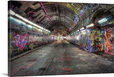 Leake Street graffiti tunnels