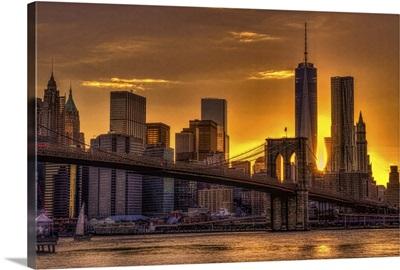 NYC Skyline at Sunset III