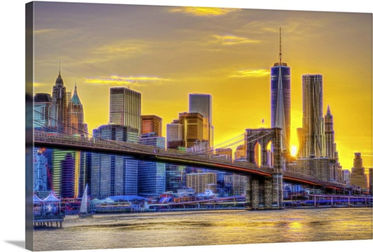 NYC Skyline at Sunset IV Wall Art, Canvas Prints, Framed Prints ...