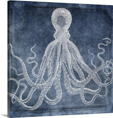 Octopus Dreams II - Twilight Blue Watercolor