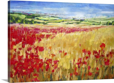 Poppies and Rolling Hills England II