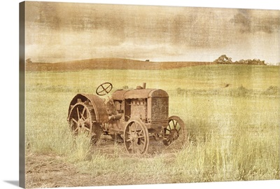 Rusty Tractor Distressed