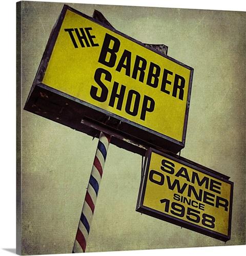 Yellow Barber Shop Wall Art, Canvas Prints, Framed Prints, Wall ...