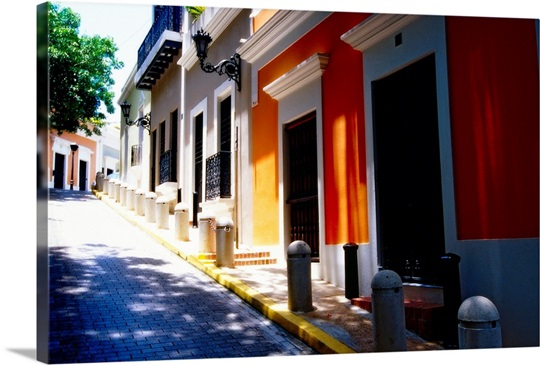 Calle De Sol, Old San Juan, Puerto Rico Wall Art, Canvas Prints ...