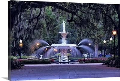 Forsyth Park Fountain In Savannah