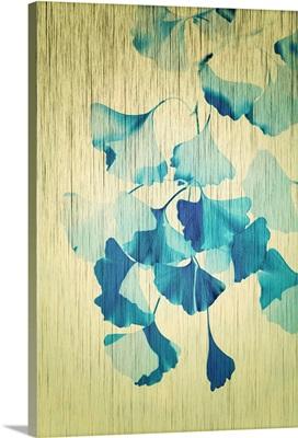 Ginkgo Textured Blue