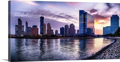 Newport Skyline In Jersey City