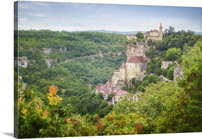 Old City Of Rocamadour In France