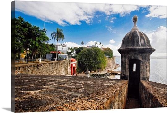 Old San Juan City Walls and Gate, Puerto Rico Wall Art, Canvas ...