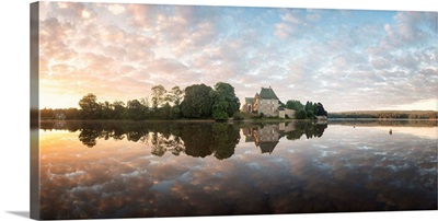 Panoramic of Abbaye Paimpont in Brittany