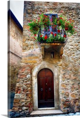 Pienza Door and Balcony