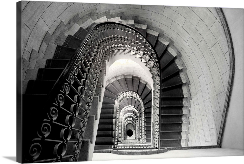 Staircase Perspective, Rome Marriott Flora Hotel, Italy
