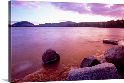 Sunset Afterglow, Eagle Lake, Mt Desert Island, Acadia National