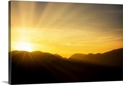 Sunset over the Connemara Mountains