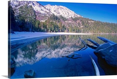 Tranquil Winter Bay Scene, Emerald Bay, Lake Tahoe, California