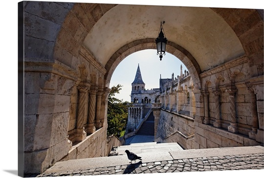 View Through an Arch, Fisherman's Bastion, Budapest, Hungary