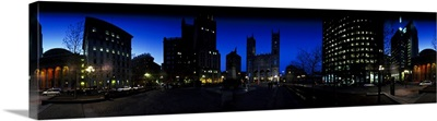 360 degree of a city at night, Montreal, Quebec, Canada