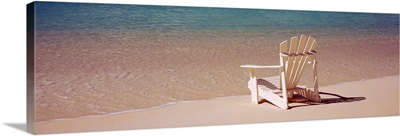 Adirondack chair on the beach, Bahamas
