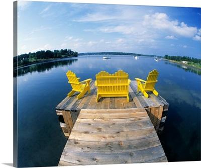 Adirondack Chairs on Dock Nova Scotia Canada