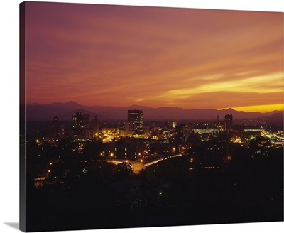 Aerial view of a city, Asheville, Buncombe County, North Carolina